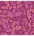 Fall garden seamless pattern background vector image