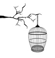 Hanging birdcage vector image