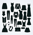 Clothes icon set collection of fashion signs and vector image
