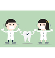 dentist with happy teeth vector image vector image