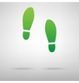 Imprint soles shoes green icon vector image