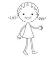 cartoon girl in black color vector image