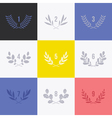 Set of minimalistic laurel wreaths vector image vector image
