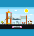 childrens playground cartoon vector image