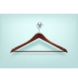 Clothes Coat Wooden Hanger Close Up Isolated vector image