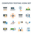 computer testing icon vector image