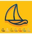 Flat design sailboat vector image