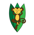 Funny brown monkey relaxes vector image