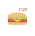 hamburger retro vector image