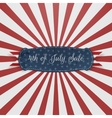 Independence Day 4th of July paper Card Template vector image