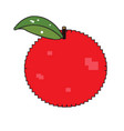 isolated pixelated apple vector image
