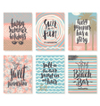 Set of Hand drawn summer vacation calligraphy vector image