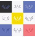 Set of minimalistic laurel wreaths vector image