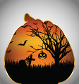 Halloween background pumpkin cut out shape vector image