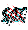 Cat attack vector image vector image