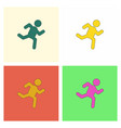 sprinter icon man run silhouette collection vector image