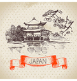 Hand drawn Japanese Sketch background vector image