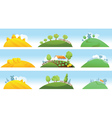 Set of farm landscapes vector image