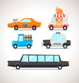 Car Flat Icon Set 2 vector image vector image