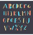 doodles alphabet vector image vector image