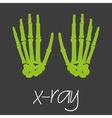 x-ray science design banner and background eps10 vector image