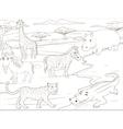 Coloring book educational game African savannah vector image