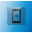 icon of phone vector image