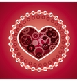 love concept in steam punk style vector image vector image