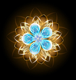 Abstract Turquoise Flower vector image