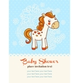 Baby shower invitation card with horse vector image