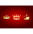 crowns set vector image