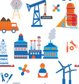 Industry and transport seamless pattern vector image
