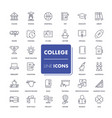 line icons set college vector image