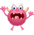 red monster cartoon vector image