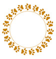 Round frame paws vector image