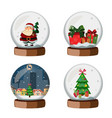 set of christmas snow globe vector image