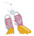 - pair of sneakers vector image