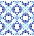blue background flourish weave pattern vector image
