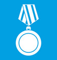 winning medal icon white vector image vector image