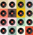 Retro - Vintage Vinyl Record Disc Template vector image