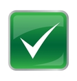 agree icon on green button vector image