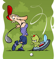 golf accident vector image vector image