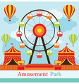 Ferris Wheel Amusement Park Carnival Fun Fair vector image