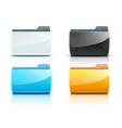 computer folder vector image vector image