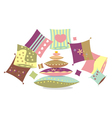 Set of pillows vector image vector image