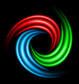 Abstract swirl sign on black background for vector image