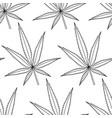 cannabis leaf contour pattern vector image