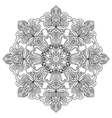Contour Mandala for anti-stress coloring book vector image
