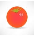 Flat Design Tomato Icon vector image