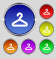 Hanger icon sign Round symbol on bright colourful vector image